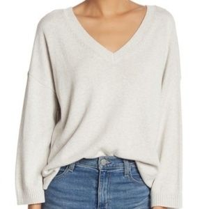 Madewell Double V Neck Pullover Sweater